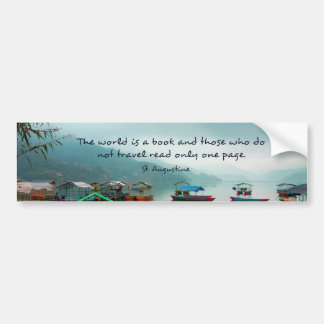 Saint Augustine TRAVEL quote Bumper Sticker