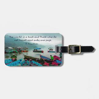 Saint Augustine TRAVEL quote Luggage Tags