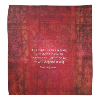 Saint Augustine TRUTH quote Bandana