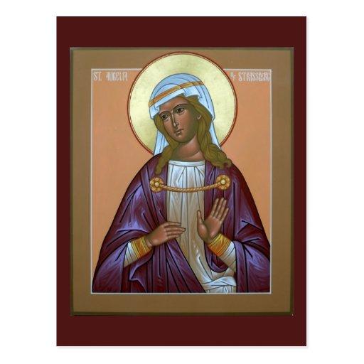 Saint Aurelia Prayer Card