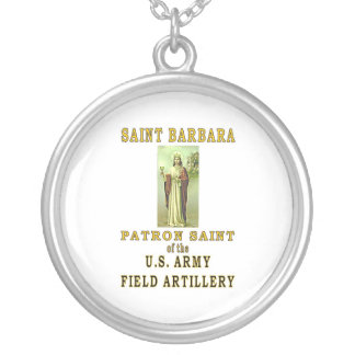 SAINT BARBARA SILVER PLATED NECKLACE