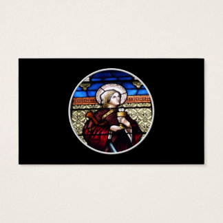 Saint Barbara Stained Glass Window Business Card