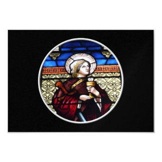 "Saint Barbara Stained Glass Window 3.5"" X 5"" Invitation Card"