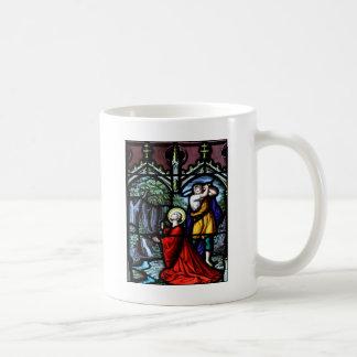 Saint Barbara's Martyrdom Stained Glass Art Coffee Mug