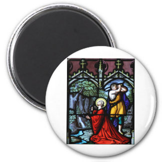 Saint Barbara's Martyrdom Stained Glass Art 2 Inch Round Magnet