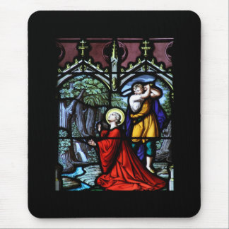 Saint Barbara's Martyrdom Stained Glass Art Mouse Pad