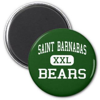 Saint Barnabas - Bears - High - Bronx New York 2 Inch Round Magnet