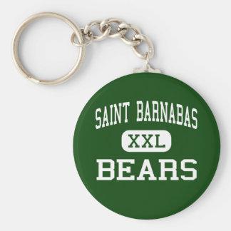 Saint Barnabas - Bears - High - Bronx New York Basic Round Button Keychain