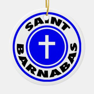 Saint Barnabas Ceramic Ornament