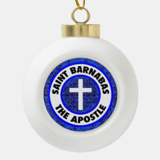 Saint Barnabas the Apostle Ceramic Ball Christmas Ornament