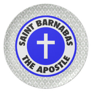 Saint Barnabas the Apostle Melamine Plate