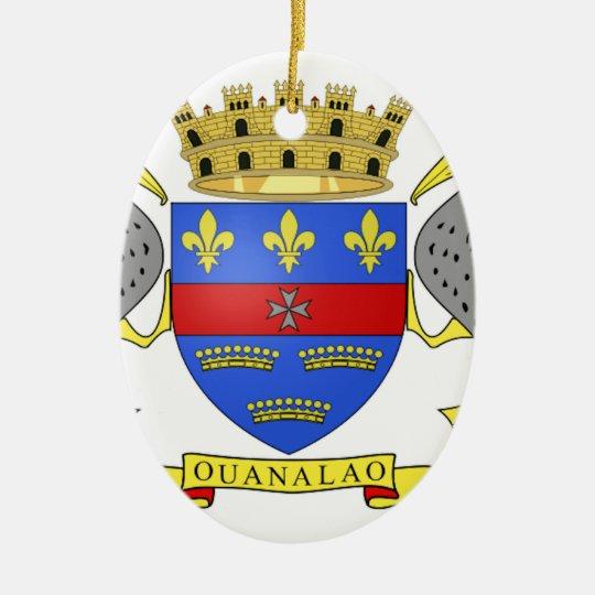 Saint Barthelemy Ceramic Ornament