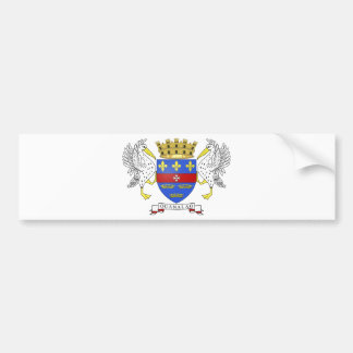 Saint Barthelemy Coat of Arms Car Bumper Sticker
