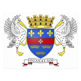 Saint Barthelemy Coat of Arms Post Card