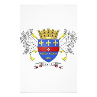 Saint Barthelemy Coat of Arms Custom Stationery