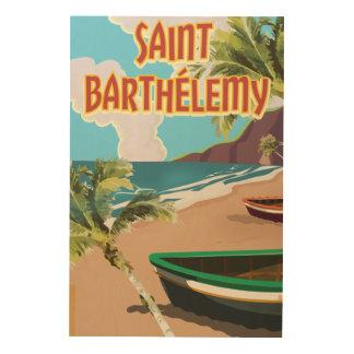Saint Barthélemy Island Vintage Travel Poster Wood Wall Art