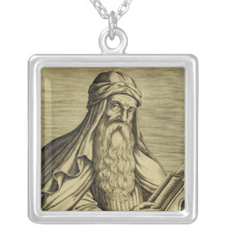 Saint Basil c400 AD Silver Plated Necklace