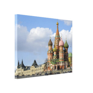 Saint Basil Cathedral Red Square Moscow Russia Canvas Print