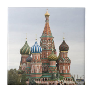 Saint Basil Cathedral. Red Square Moscow Russia Small Square Tile
