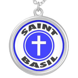 Saint Basil Round Pendant Necklace