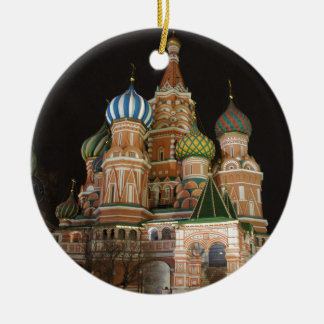 Saint Basil's Cathedral 2 Double-Sided Ceramic Round Christmas Ornament