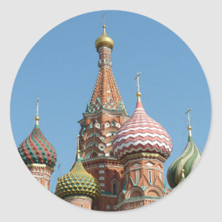 Saint Basil's Cathedral Classic Round Sticker