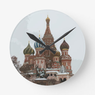 Saint Basil's cathedral_eng Round Clock