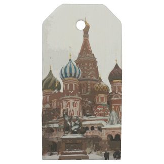 Saint Basil's cathedral_eng Wooden Gift Tags