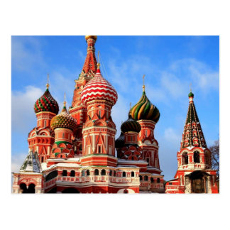 Saint Basil's Cathedral in Moscow Russia Postcard