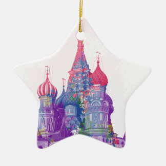 Saint Basil's Cathedral Moscow Ceramic Ornament