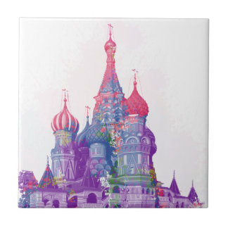 Saint Basil's Cathedral Moscow Ceramic Tile