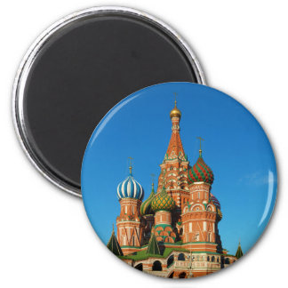 Saint Basil's Cathedral Moscow Russia 2 Inch Round Magnet