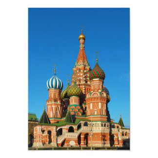 Saint Basil's Cathedral Moscow Russia Card