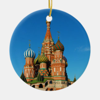 Saint Basil's Cathedral Moscow Russia Ceramic Ornament