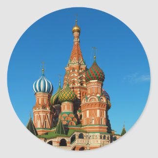 Saint Basil's Cathedral Moscow Russia Classic Round Sticker