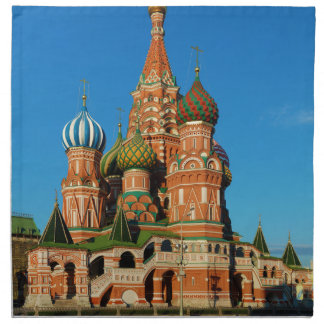 Saint Basil's Cathedral Moscow Russia Napkin
