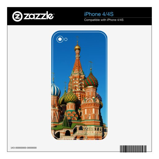 Saint Basil's Cathedral Moscow Russia iPhone 4 Decals