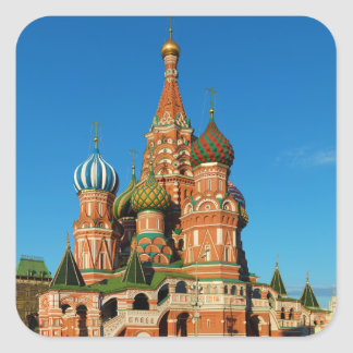Saint Basil's Cathedral Moscow Russia Square Sticker