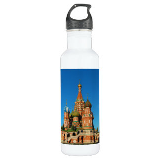 Saint Basil's Cathedral Moscow Russia Stainless Steel Water Bottle