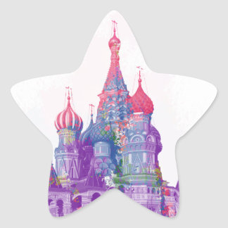 Saint Basil's Cathedral Moscow Star Sticker
