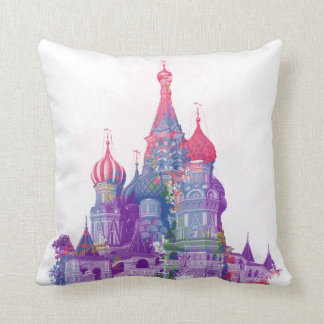 Saint Basil's Cathedral Moscow Throw Pillow