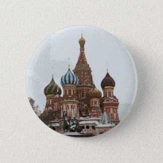 Saint Basil's cathedral_russo Pinback Button