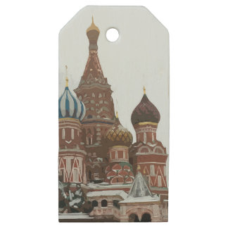 Saint Basil's cathedral_russo Wooden Gift Tags