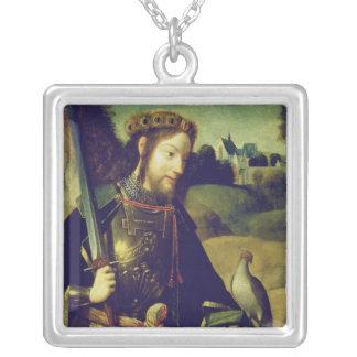 Saint Bavo Square Pendant Necklace