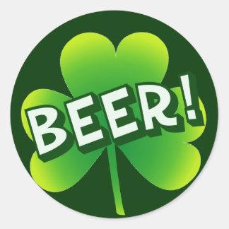 Saint Beer Day Classic Round Sticker