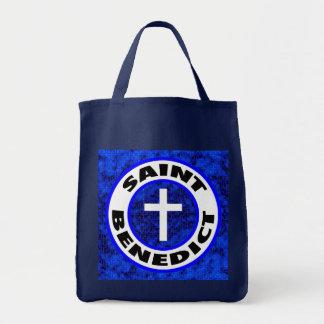 Saint Benedict Tote Bags