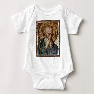 SAINT BENEDICT CATHOLIC 01 CUSTOMIZABLE PRODUCTS BABY BODYSUIT
