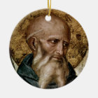 Saint Benedict Ceramic Ornament