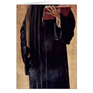 Saint Benedict Of Nursia By Andrea Mantegna Cards