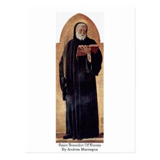 Saint Benedict Of Nursia By Andrea Mantegna Postcards